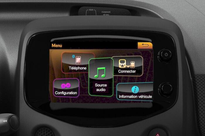 """Ecrã tactil de 7"""" Mirror Screen (impõe o Sistema áudio MP3 Connecting Box)"""