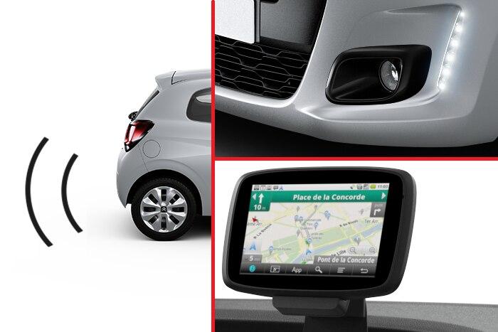 Aide au stationnement arrière. Navigation semi-intégré TomTom & Projecteurs antibrouillard