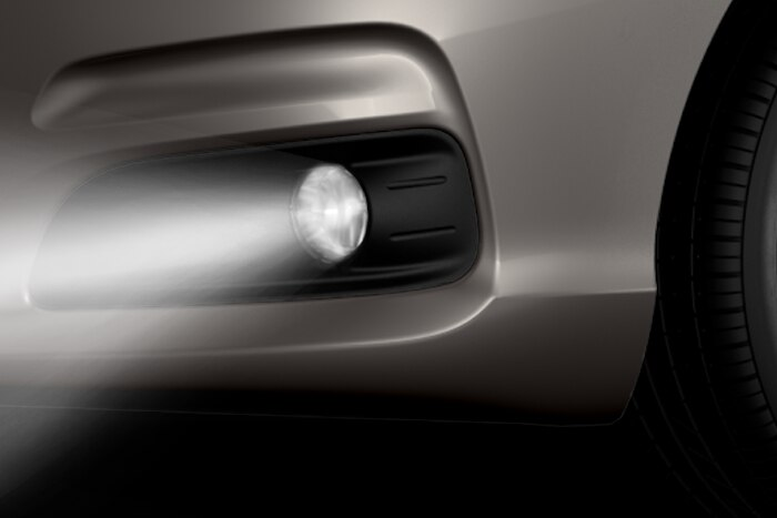 Front fog lights with cornering function