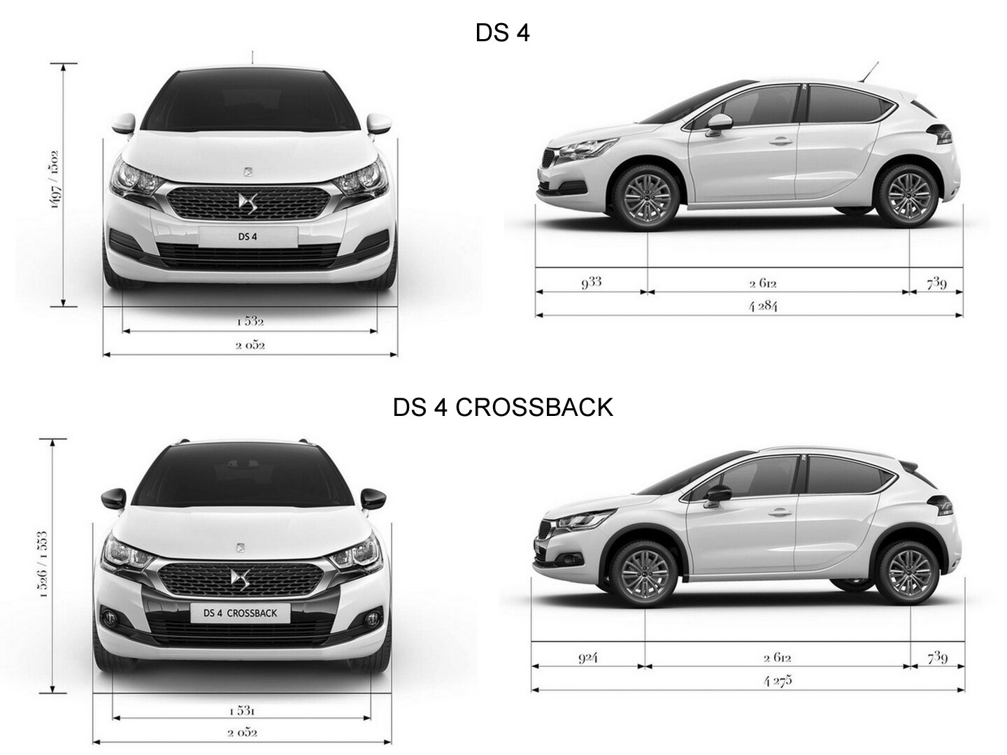 ds4 crossback technical specifications ds automobiles. Black Bedroom Furniture Sets. Home Design Ideas