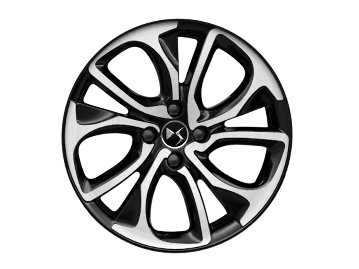 18 inch black diamond-cut 'Brisbane' alloy wheels