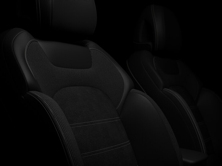 Black 'Dinamica' premium cloth upholstery with sport seats