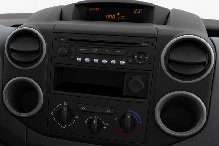 Аудиосистема с тюнером с RDS, CD, MP3, бортовой компьютер