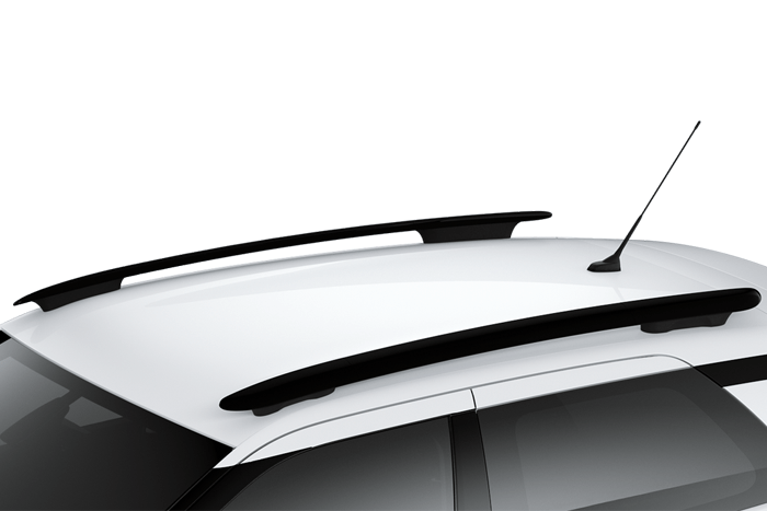 Gloss black roof bars