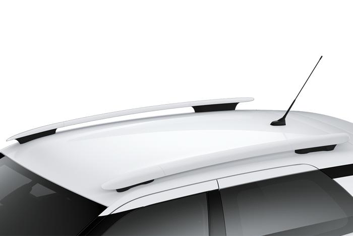 Gloss white roof bars