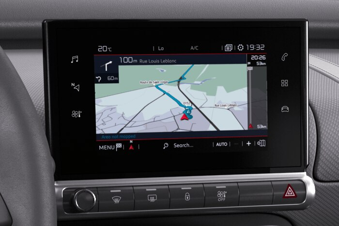 Citroën Connect Nav DAB sur Tablette tactile 7""