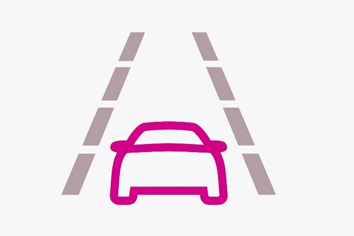 Active lane departure warning stsyem
