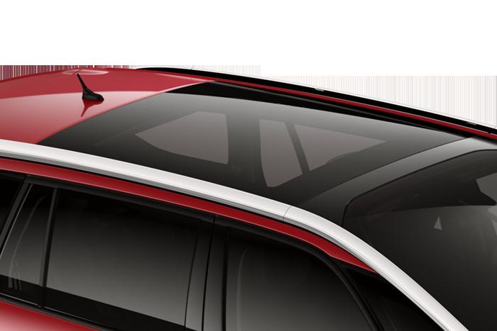 Panoramatické střešní okno s elektricky ovládanou protisluneční roletou
