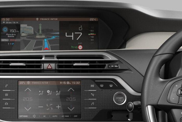 Personalisierbarer 12-Zoll-HD-Panoramabildschirm mit- 3D Navigationssystem -  Mirror link -  Wifi - Bluetooth