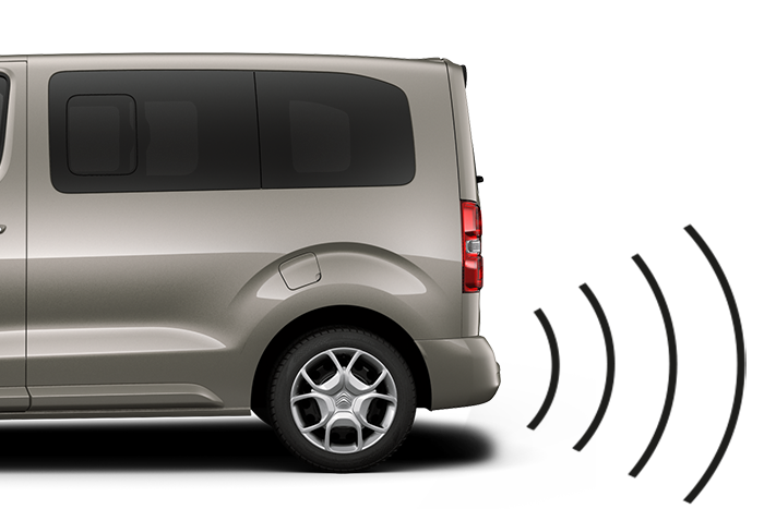 Front and rear parking sensors with blind spot monitoring