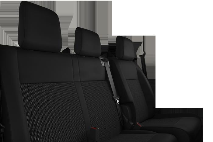 Fahrersitz + Beifahrer-Doppelsitzbank