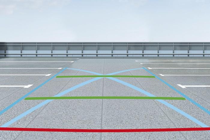 Aide au stationnement avant et arrière avec Surveillance d'Angle Mort + Top Rear Vision
