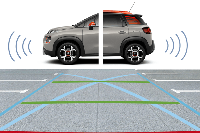 Rückfahrkamera Top Rear Vision & Einparkhilfe vorn