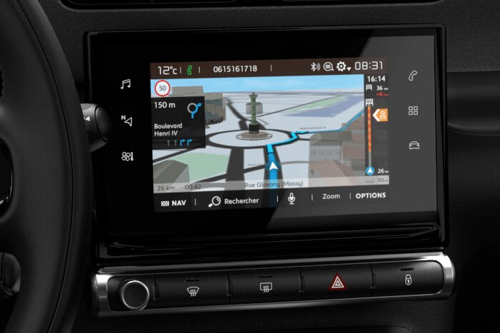 Citroën Connect NAVi 3D z Citroën Connect BOX