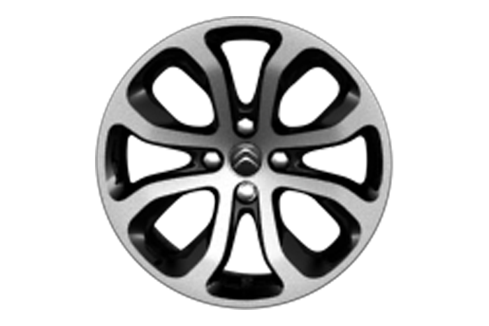 "17"" Black 'Clover' alloy wheels"