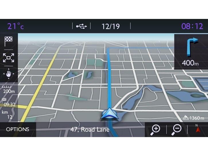 7 Zoll Touchscreen mit Navigation und HiFi