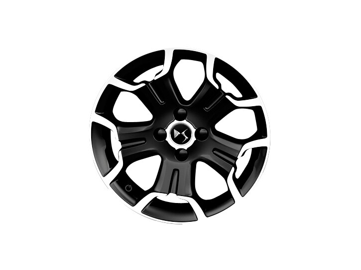 17 inch black diamond-cut 'Bellone' alloy wheels