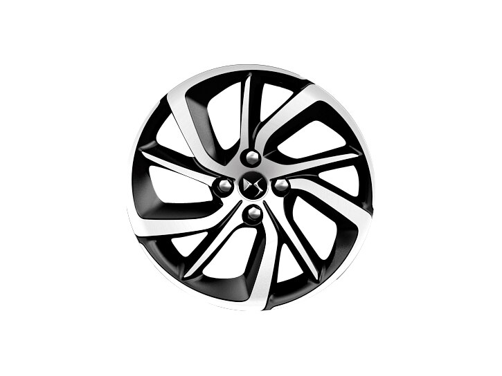 17 inch black diamond-cut 'Aphrodite' alloy wheels