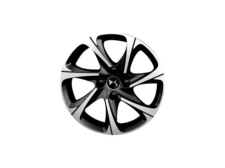 16 inch black diamond-cut 'Blade' alloy wheels