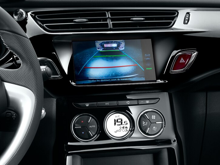 Front parking sensors with reversing camera