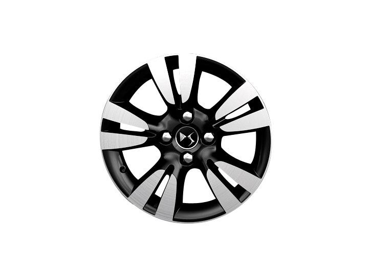 16 inch black diamond-cut 'Ashera' alloy wheels