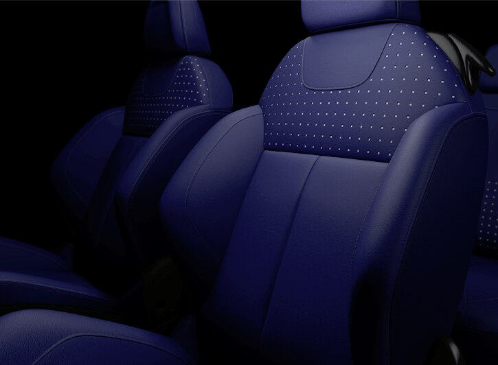Granit Blue leather upholstery