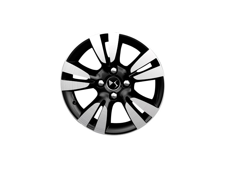 16 inch black diamond-cut 'Ashera' alloy wheels