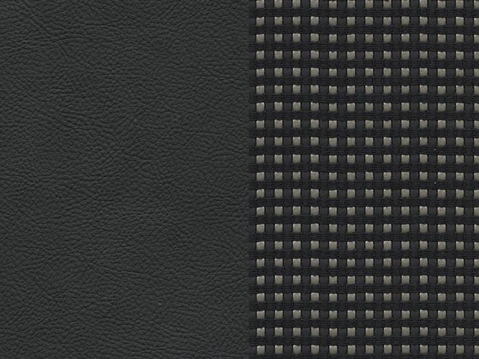 Tapicerka skórzano-materiałowa Andorre Mistral (ciemna)