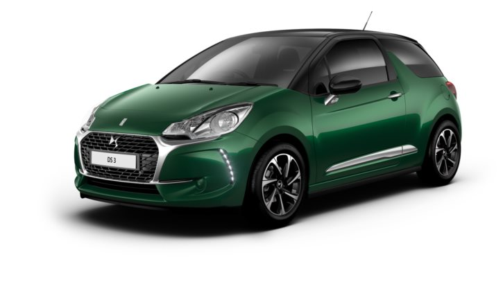 Sapphire Green Metallic body colour with Black roof